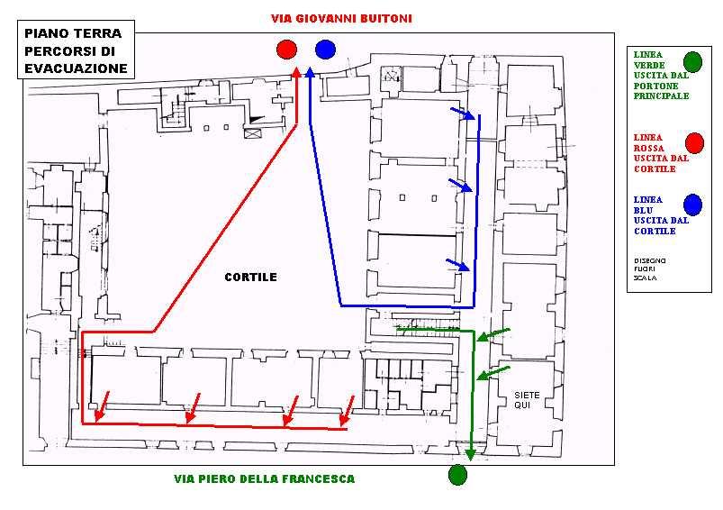 Piano evacuazione tecnico commerciale for Planimetrie della casa di piantagione